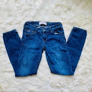 Hollister Medium Wash Skinny Straight Denim Jeans